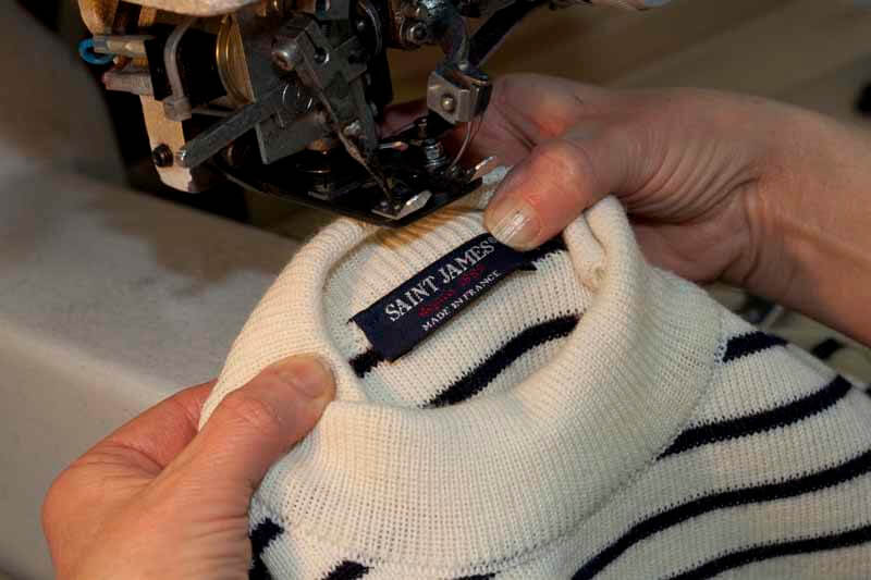Saint james knitwear fabrication